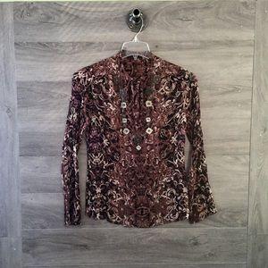 Elie Tahari Silk Long Sleeve Blouse